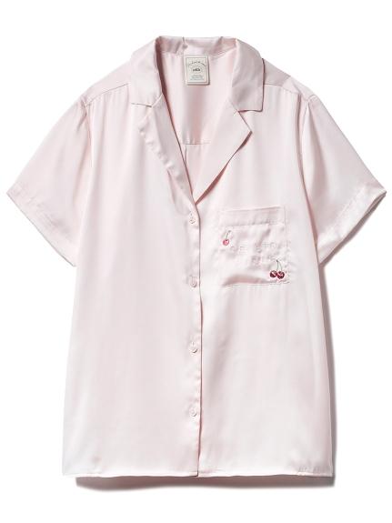 モチーフサテンシャツ(PNK-F)