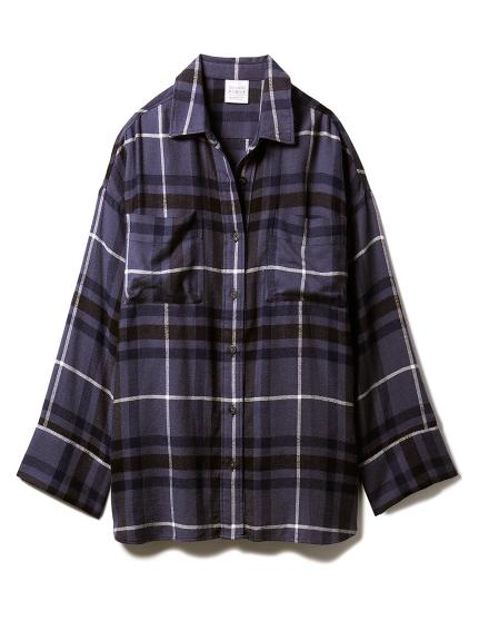 ネルチェックシャツ(NVY-F)