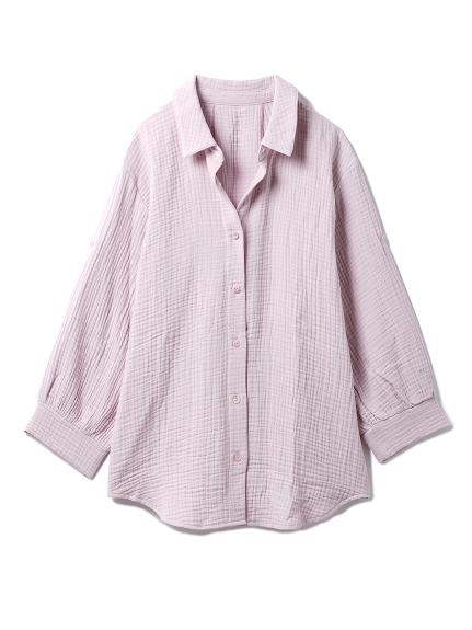 【ONLINE限定】トリプルガーゼマタニティシャツ(PNK-F)