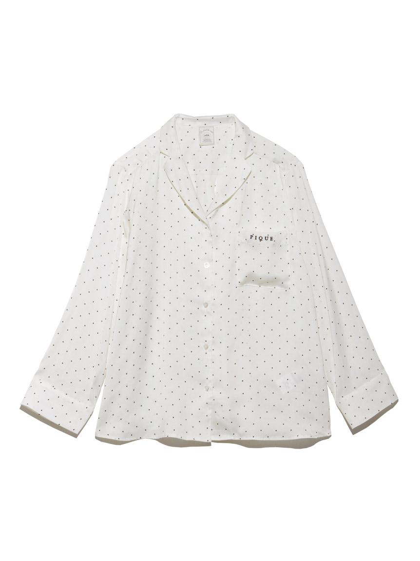 ピローモチーフサテンシャツ