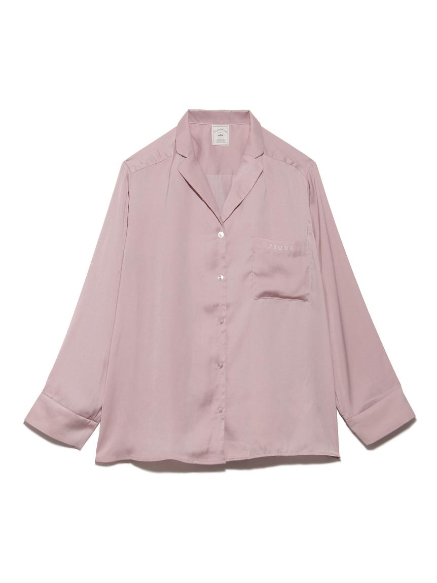 ピローモチーフサテンシャツ(PNK-F)
