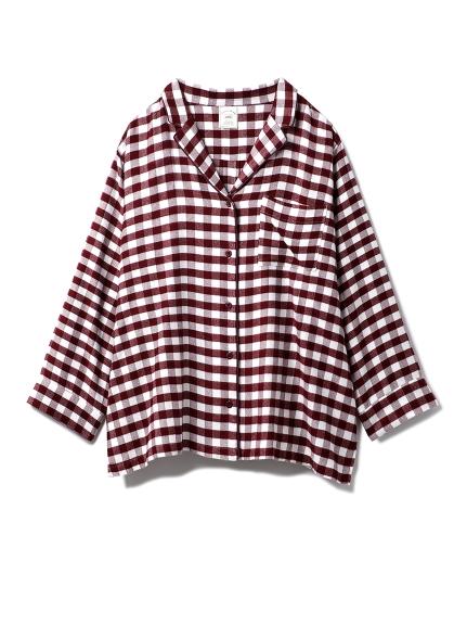 ネルギンガムチェックシャツ(RED-F)