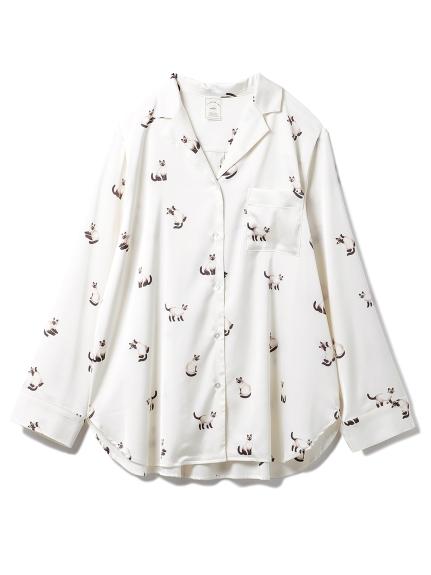 シャムネコサテンシャツ