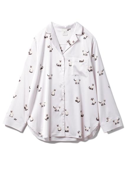 シャムネコサテンシャツ(PNK-F)