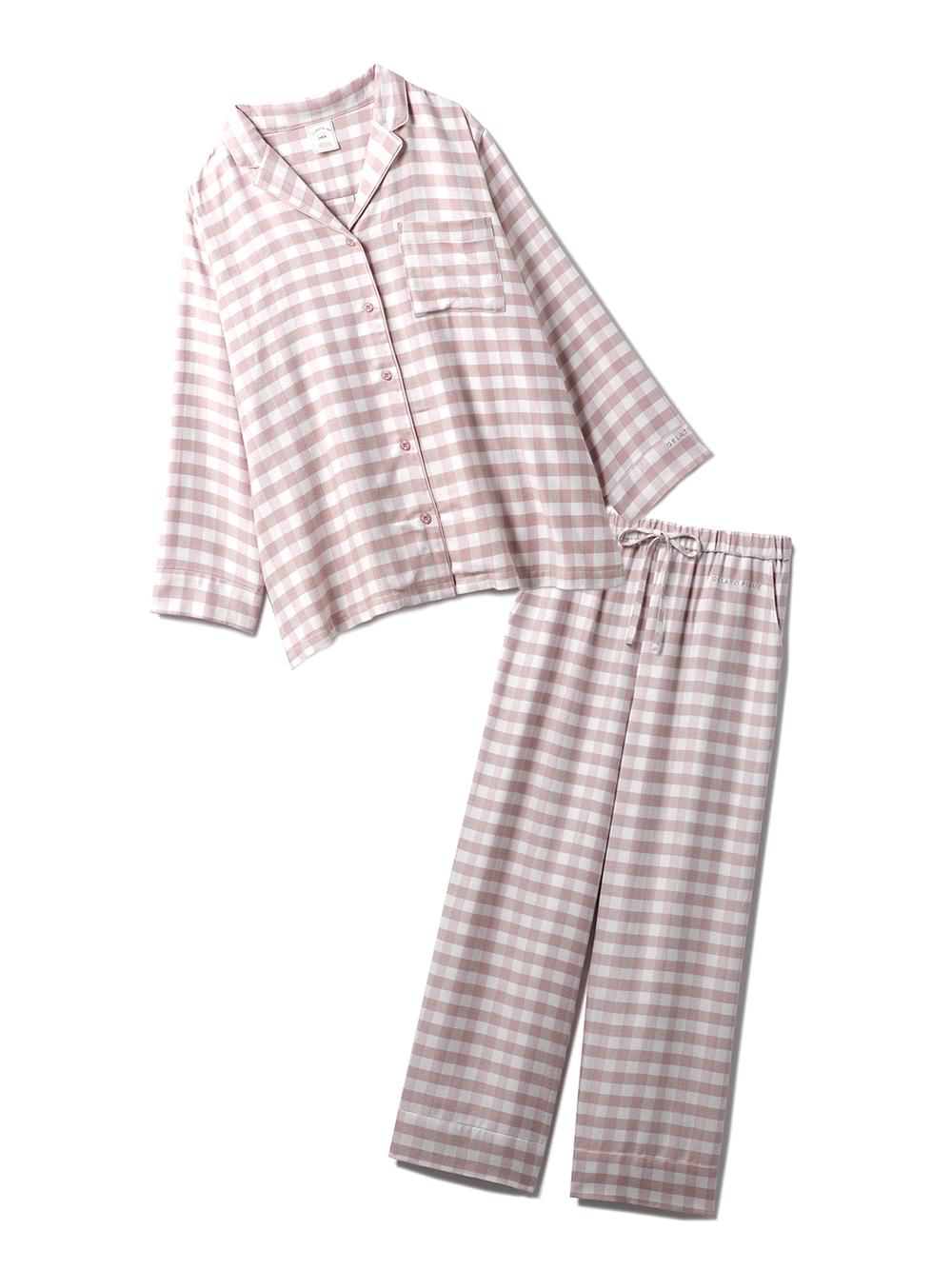 【ラッピング】ネルギンガムチェックシャツ&ロングパンツSET