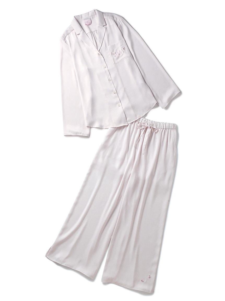 【ラッピング】フラワーサテンシャツ&ロングパンツ(PNK-F)