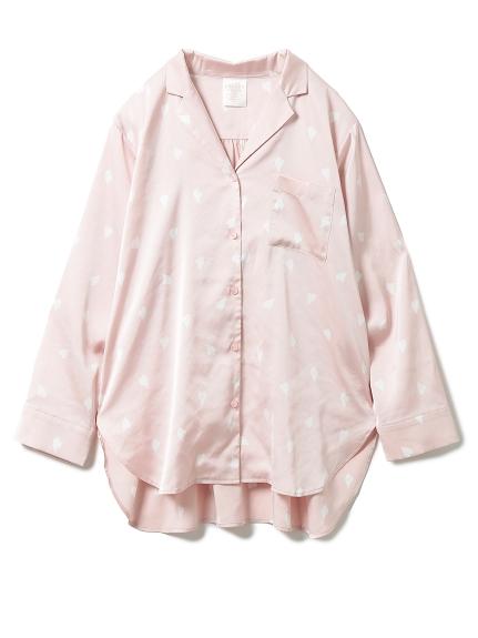 【SAKURA FAIR】ペタルモチーフサテンシャツ(PNK-F)