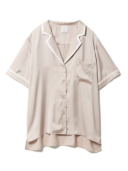 サテンラインシャツ(BEG-F)