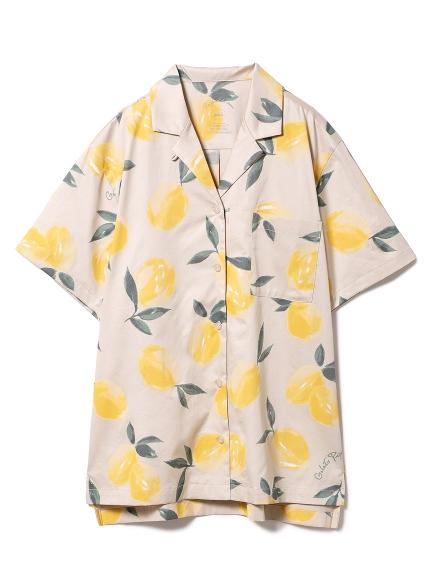 フルーツアロハモチーフシャツ(YEL-F)