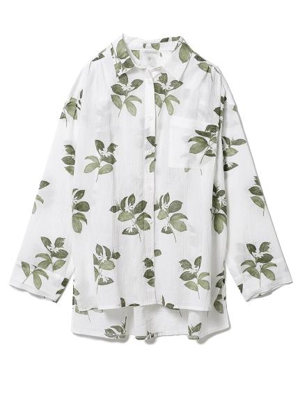 ジャスミンモチーフシャツ(OWHT-F)
