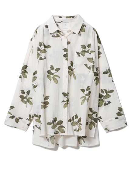 ジャスミンモチーフシャツ(BEG-F)