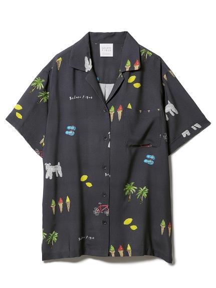 サマーモチーフシャツ(NVY-F)