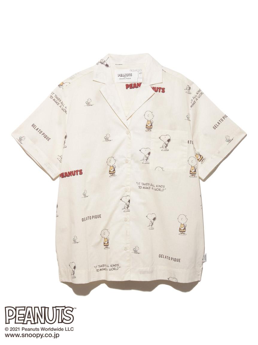【PEANUTS】モノグラムシャツ(OWHT-F)