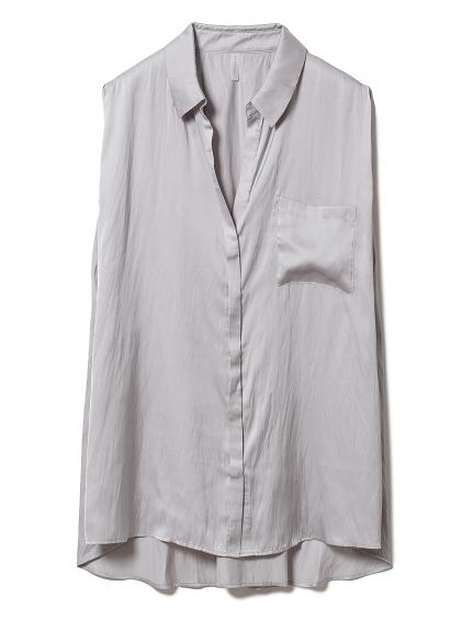 クールサテンシャツ(LGRY-F)