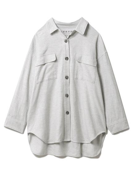 メランジコットンシャツ(GRY-F)