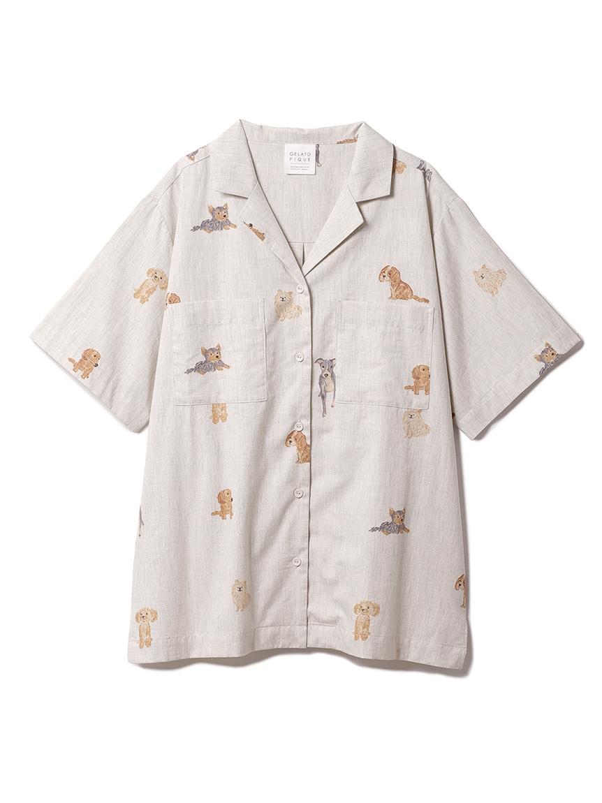 DOGモチーフシャツ(GRY-F)