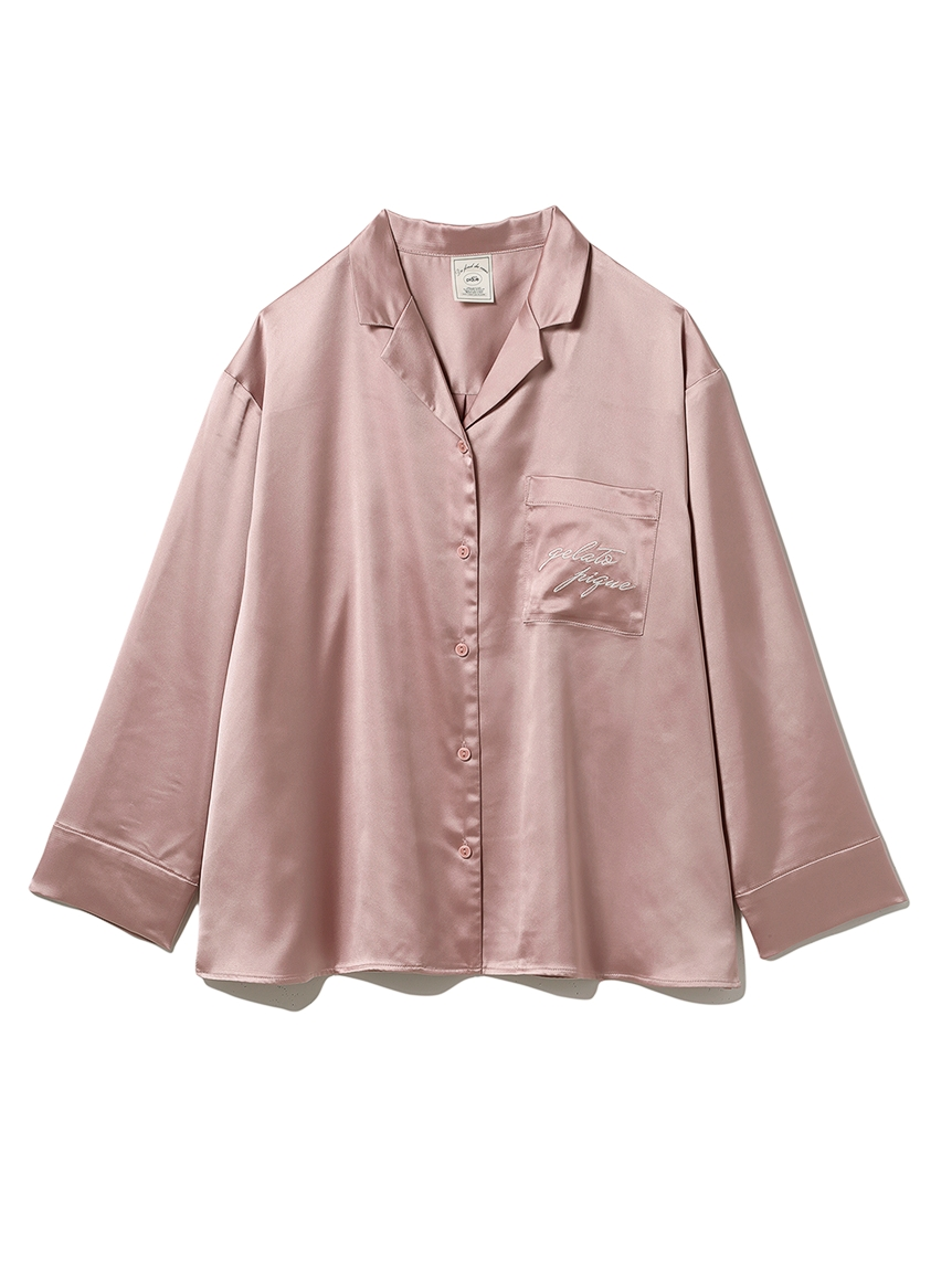 ロゴサテンシャツ(PNK-F)