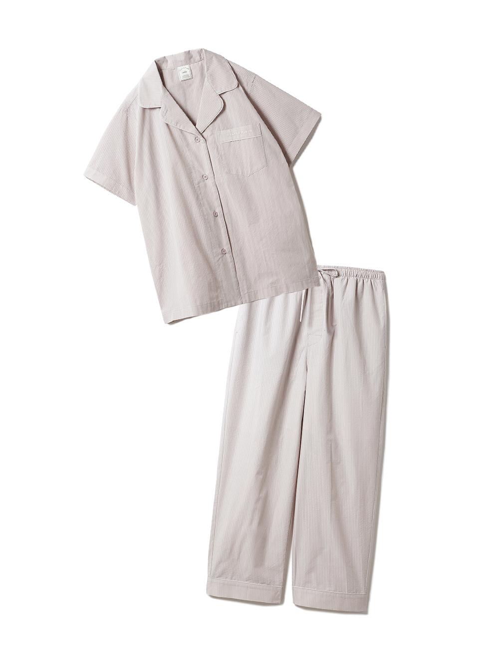 【ラッピング】クールMAXシャツ&ロングパンツSET(BEG-F)