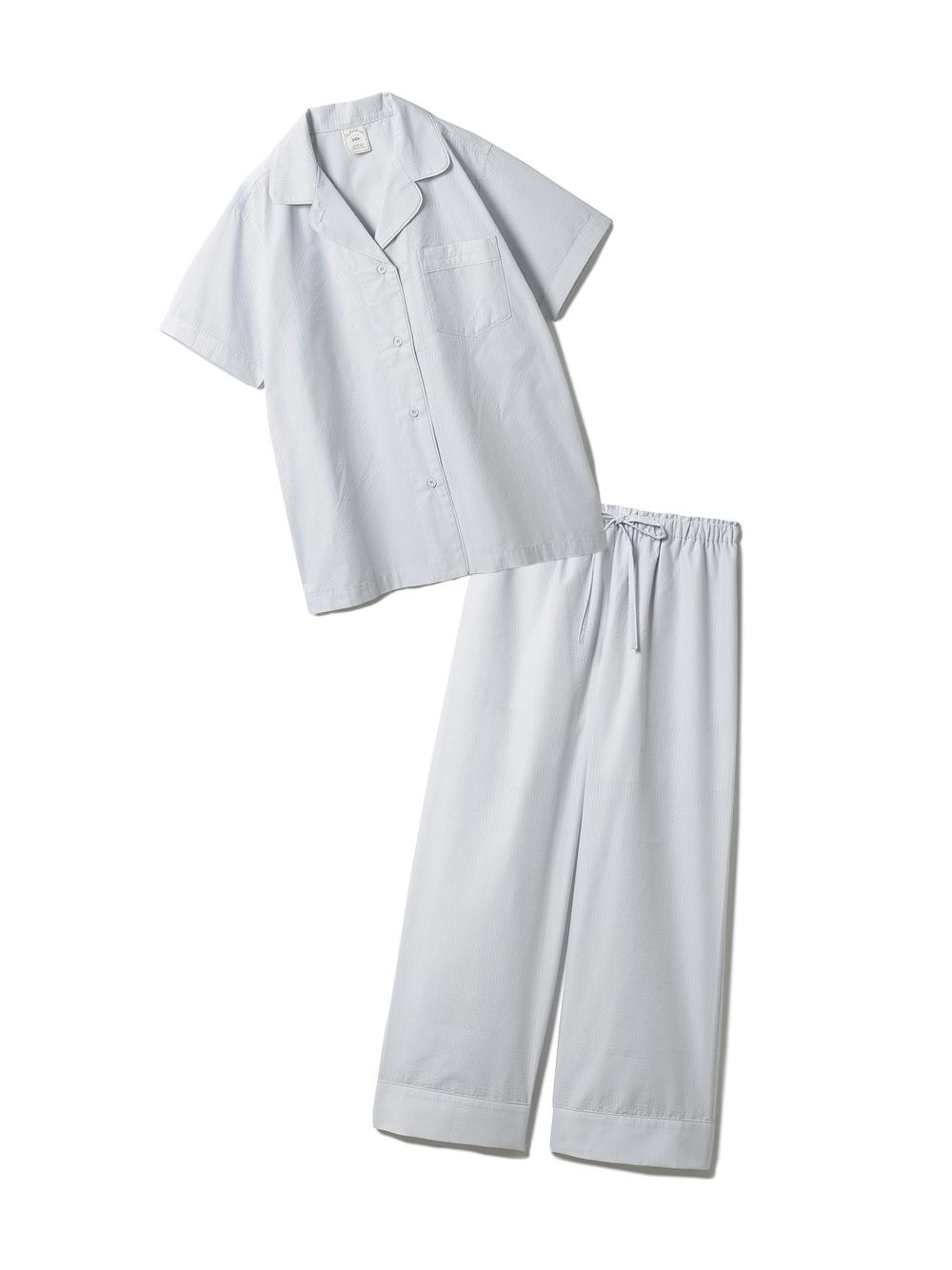【ラッピング】クールMAXシャツ&ロングパンツSET(BLU-F)