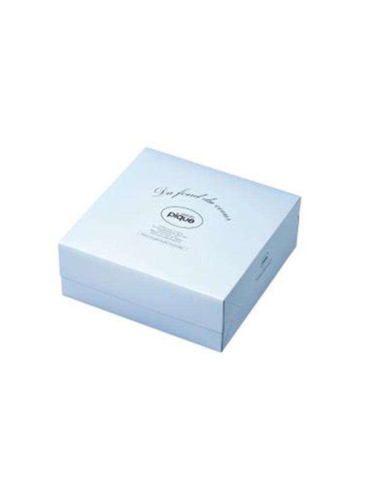 【ご自宅でラッピング】ギフトBOX(小) キット サイズ 230×230×85(BLU- F)