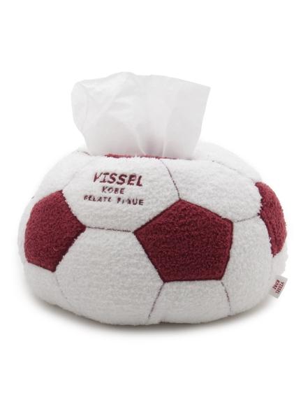 【VISSEL KOBE】サッカーボールティッシュケース(RED-F)