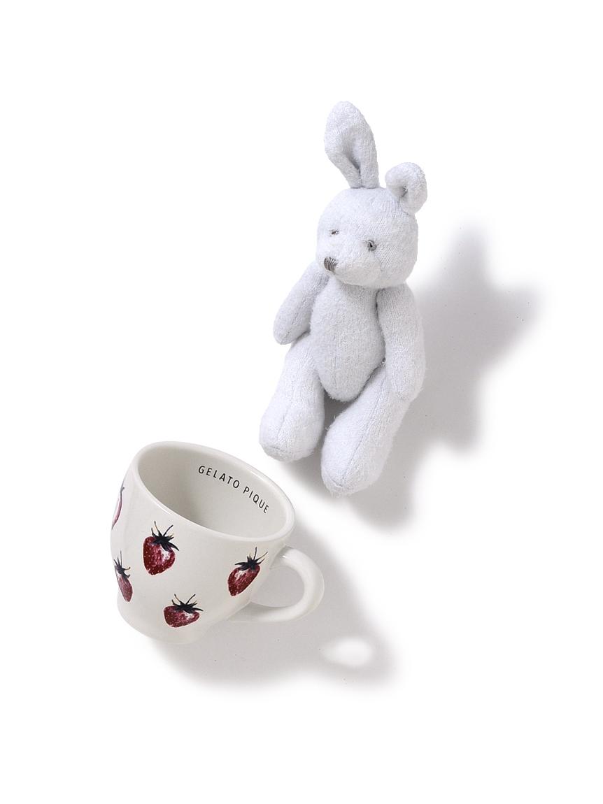 【ラッピング】いちごマグカップ&うさぎぬいぐるみ(OWHT-F)