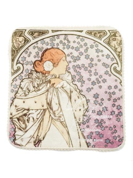 【ミュシャと椿姫】ハンドタオル(IVR-F)