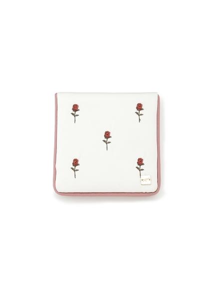 イチゴ・ローズ刺繍ミラー