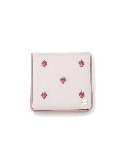 イチゴ・ローズ刺繍ミラー(PNK-F)