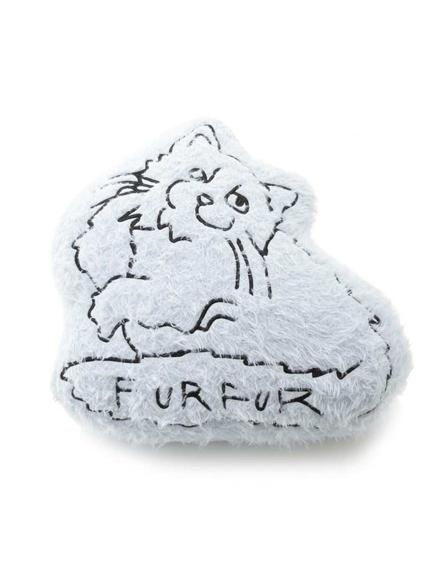 【FURFUR×gelato pique】ネコクッション(BLU-F)