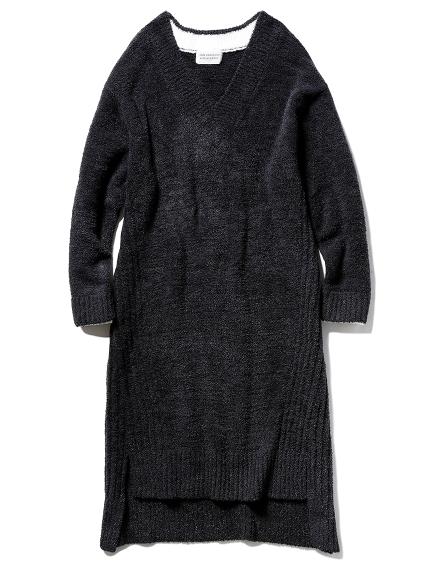 【Joel Robuchon & gelato pique】 'カシミヤMIXスムーズィー'ドレス(BLK-F)