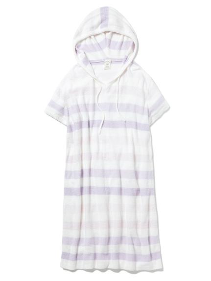 'スムーズィー'パステルボーダーフードドレス