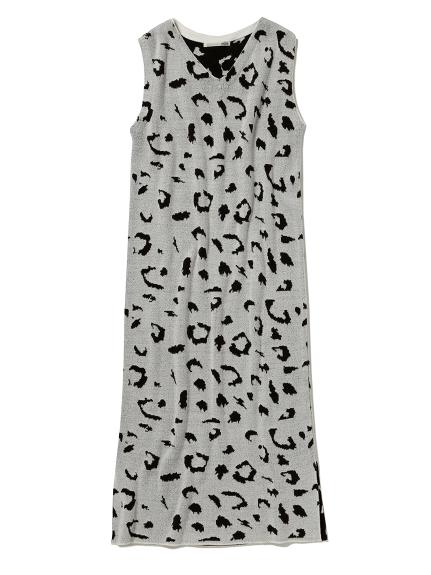 レオパードジャガードドレス(GRY-F)