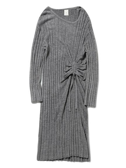 '調温スムーズィー'ブラインドリブドレス(GRY-F)