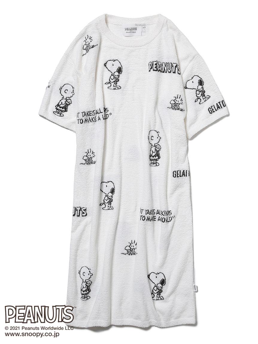 【PEANUTS】モノグラムジャガードドレス(OWHT-F)