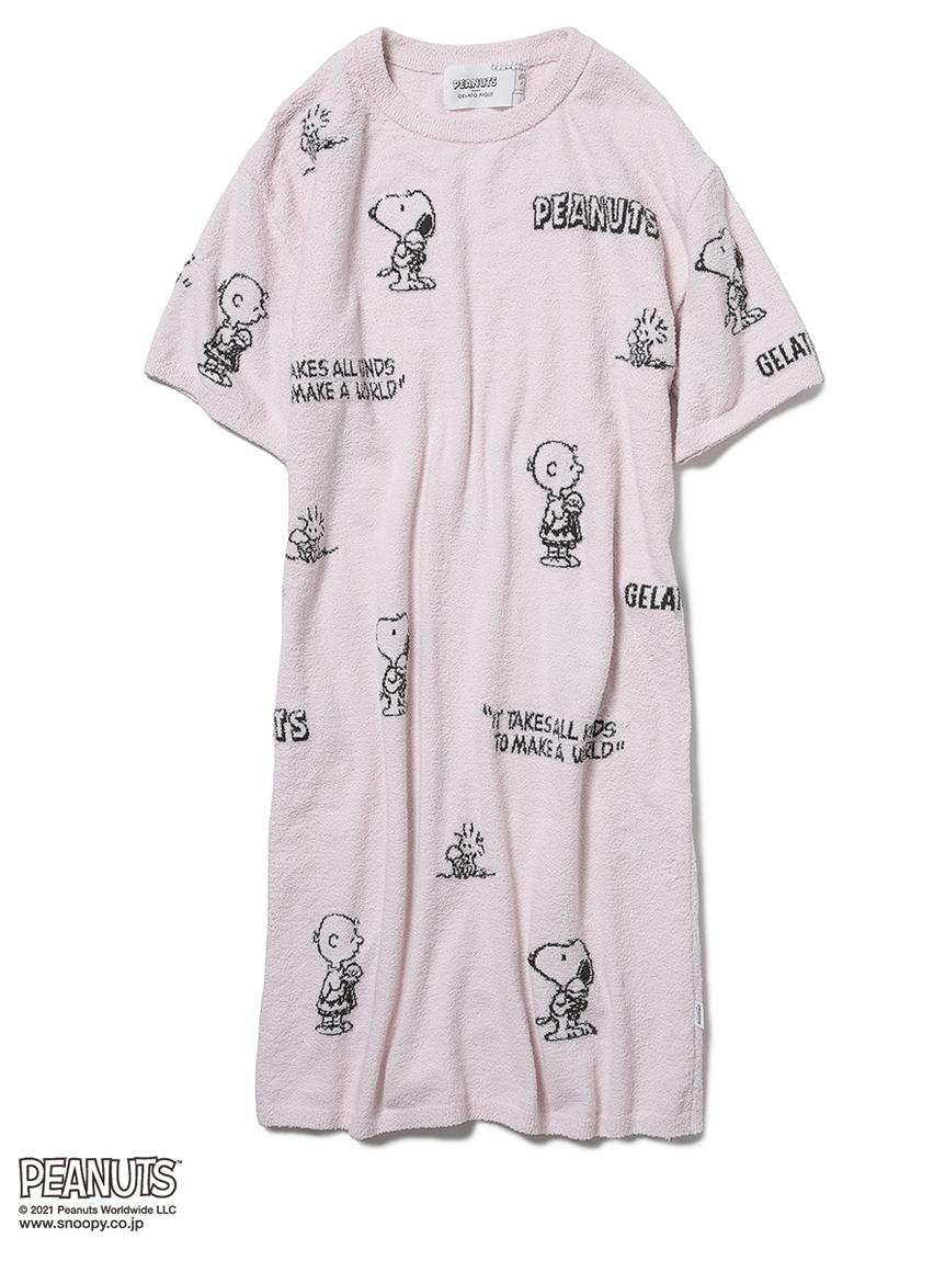 【PEANUTS】モノグラムジャガードドレス(PNK-F)