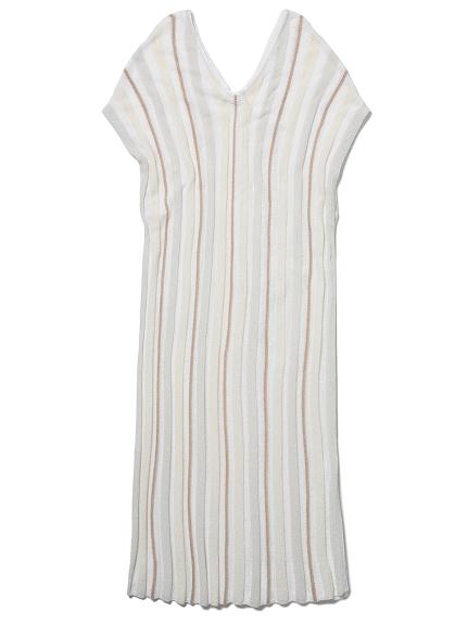 'スムーズィーライト'COOLストライプドレス(BEG-F)
