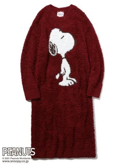 【PEANUTS】 ジェラートジャガードドレス(RED-F)