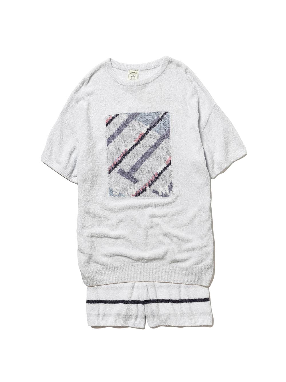 【ラッピング】スムーズィスポーツモチーフジャガードプルオーバー&ショートパンツ(BLU-F)