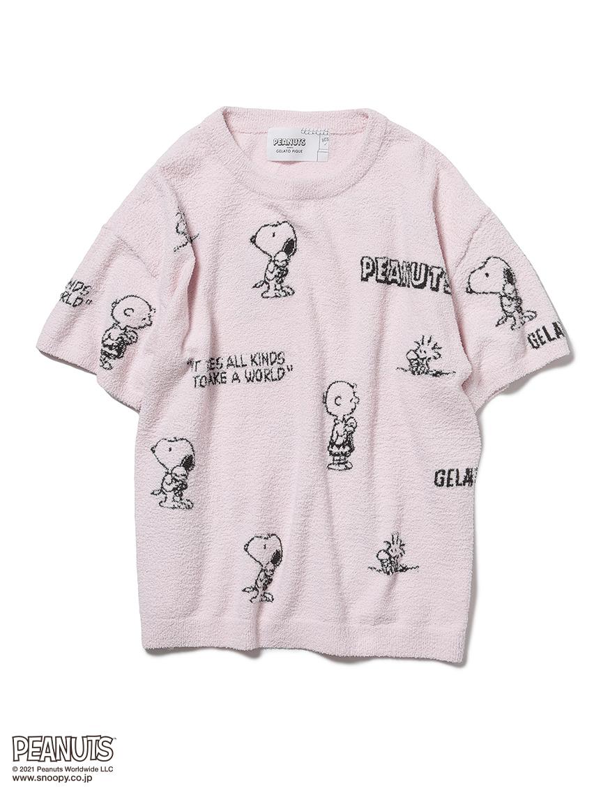 【PEANUTS】モノグラムジャガードプルオーバー(PNK-F)