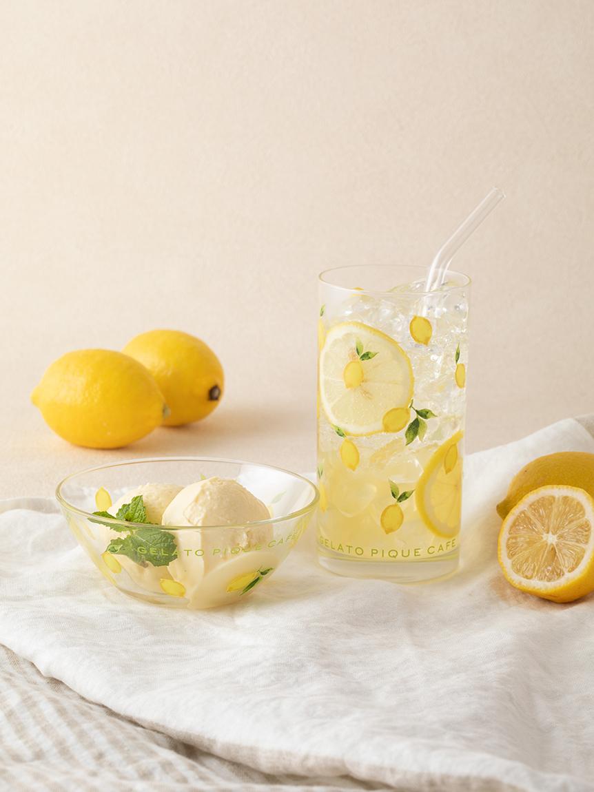 【GELATO PIQUE CAFE】レモン柄グラス   GWGG214778