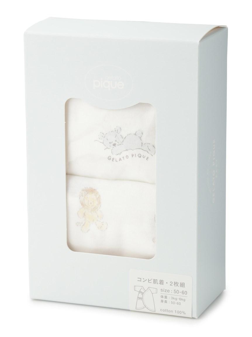 【新生児】ぬいぐるみモチーフコンビ肌着   PBCO209364
