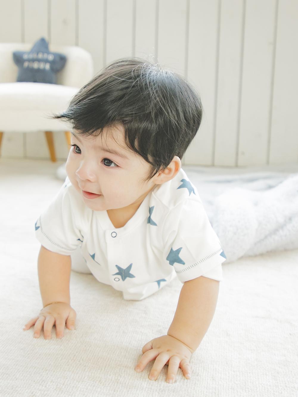 【BABY】スターモチーフ baby ロンパース | PBCO212452