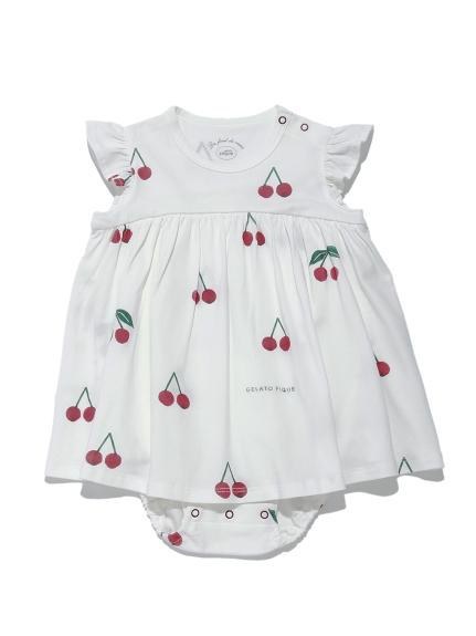 【BABY】チェリーモチーフ baby ロンパース | PBCO212456