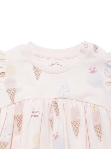 【BABY】アイスクリームアニマルモチーフ baby フリルロンパース | PBCO212464