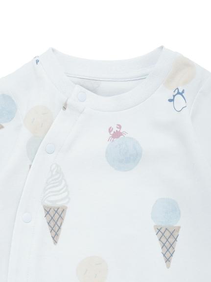 【新生児】アイスクリームアニマルモチーフ2wayオール | PBCO212465