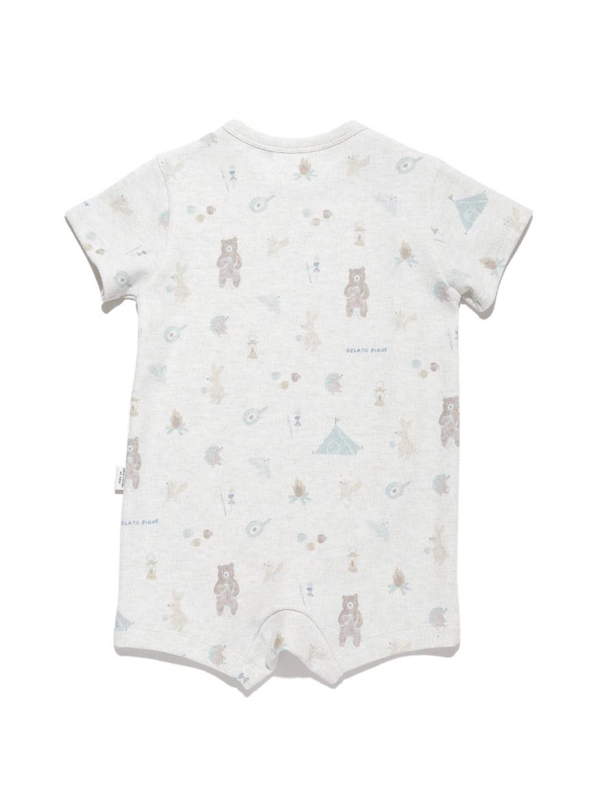 【BABY】 アニマルキャンプモチーフ baby ロンパース | PBCO214454