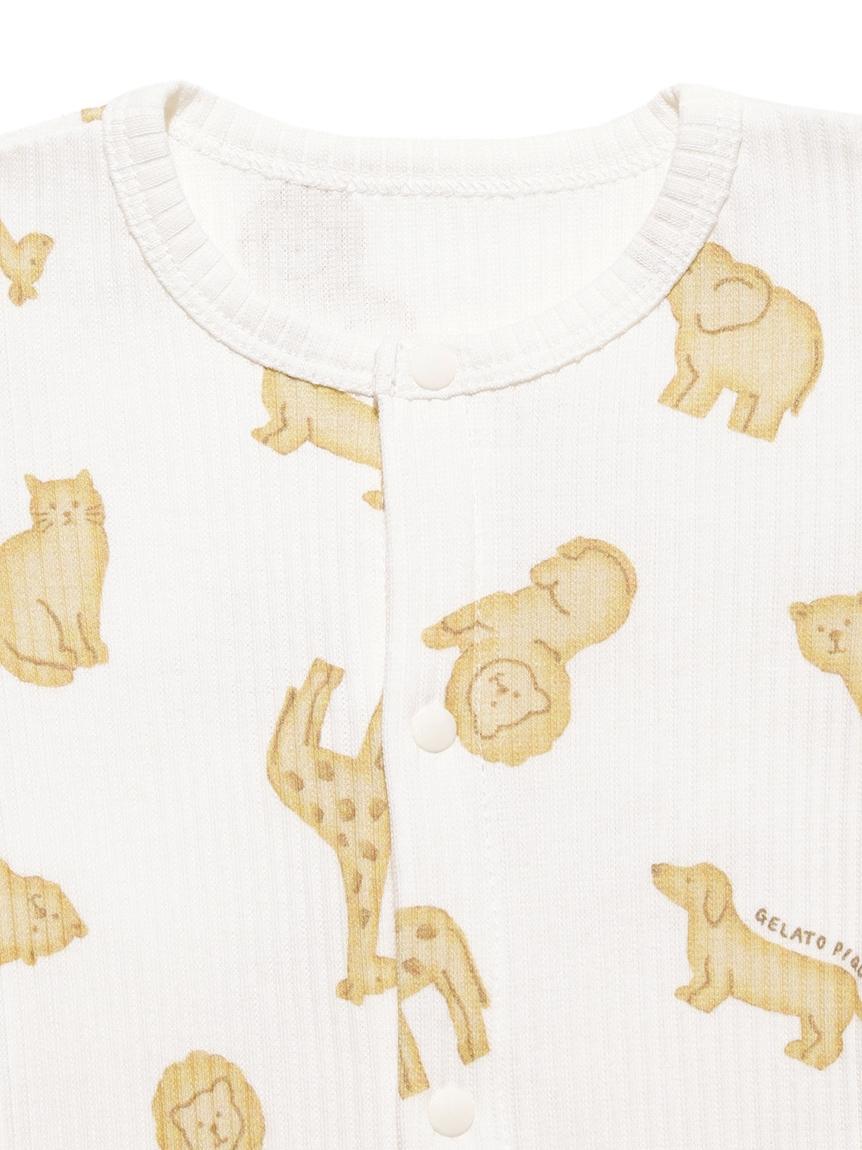 【BABY】 クッキーアニマルモチーフ新生児2wayオール | PBCO214461