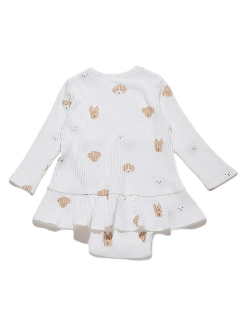 【BABY】メレンゲドッグ柄 baby ショートロンパース   PBCO215461
