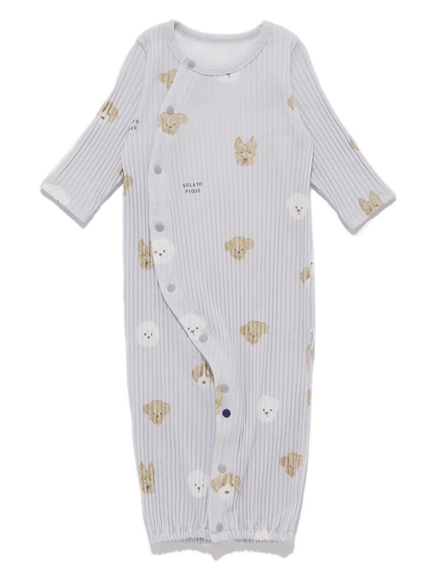 【BABY】メレンゲドッグ柄新生児2WAYオール   PBCO215462